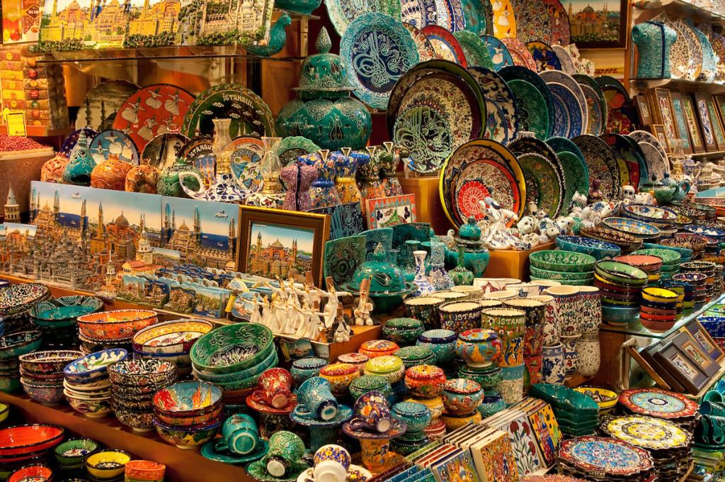 A Shop in the Grand Bazaar, Istanbul, Turkey
