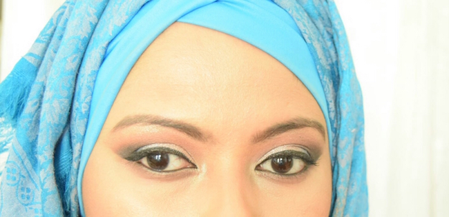 goltune news, sara jamshidi, eid al fitr, eid mubarak, hijab fashion, muslim women beautiful, halal makeup,