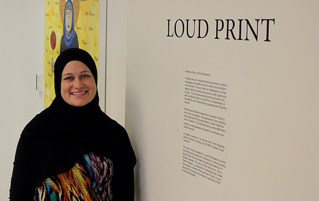Muslim Woman Artist Paints the Struggles Hijabi Women Face