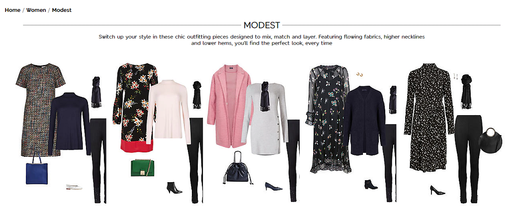Marks and Spencer Modest Clothings