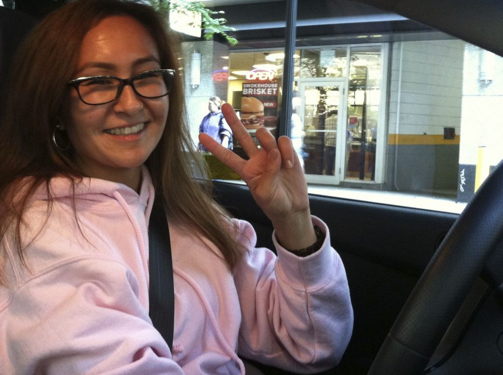 muslim girl cab driver from Kyrgyzstan, goltune